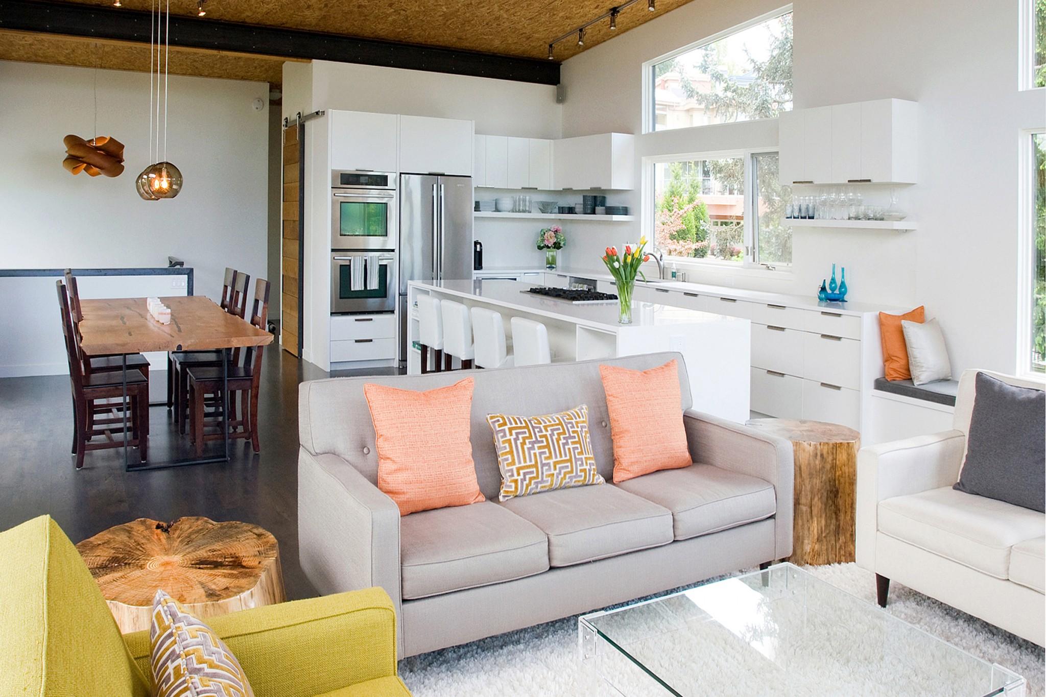 Mercer Island Contemporary Home - Living Room