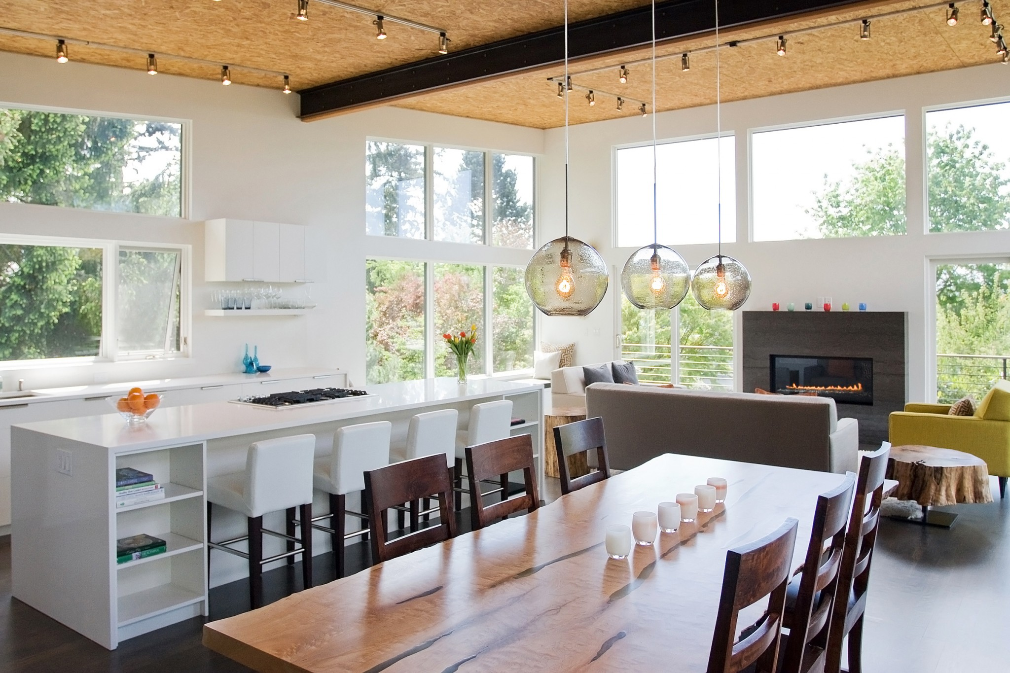 Mercer Island Contemporary Home - Dining Area 1