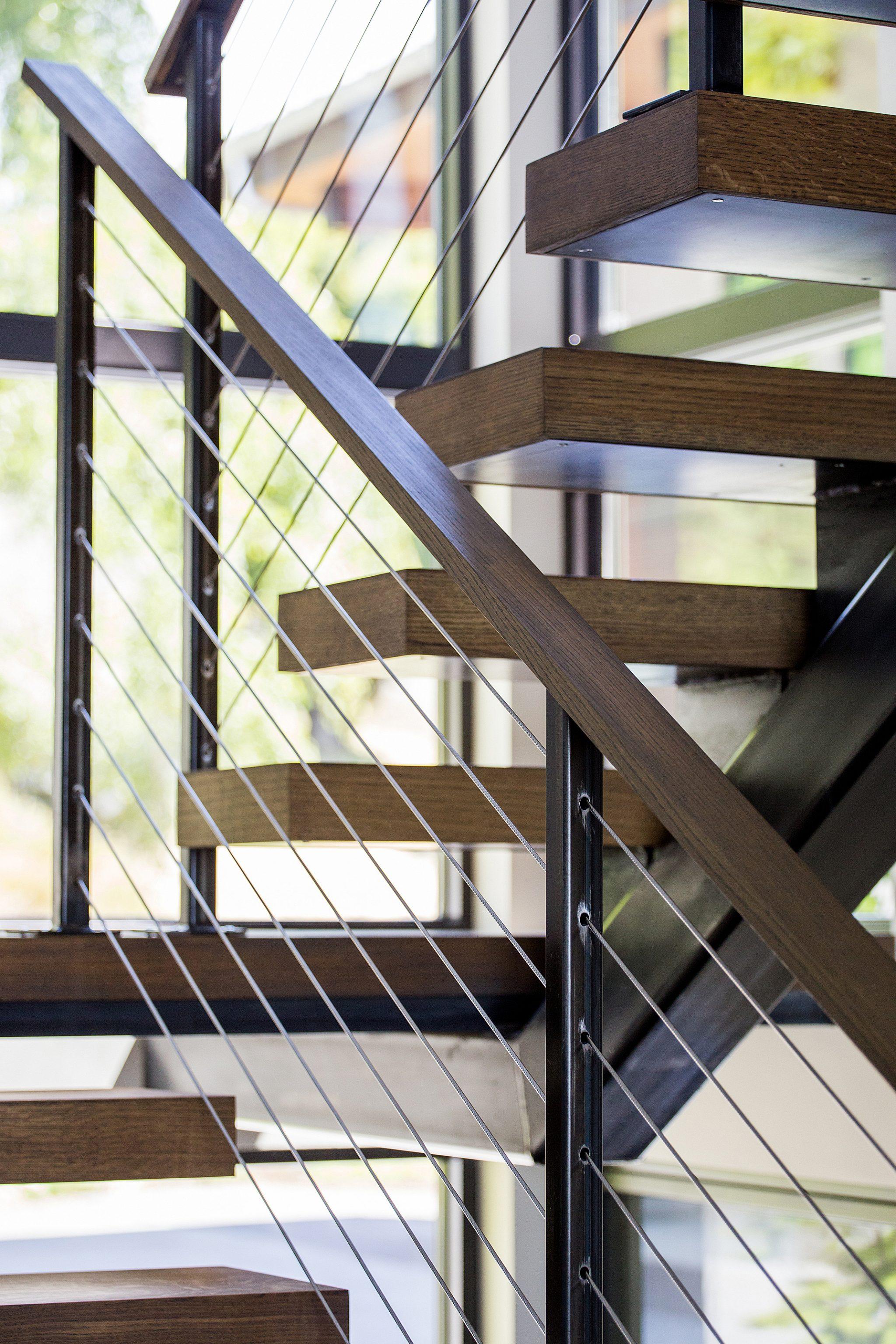 Mercer Island Custom Contemporary - Stair Detail