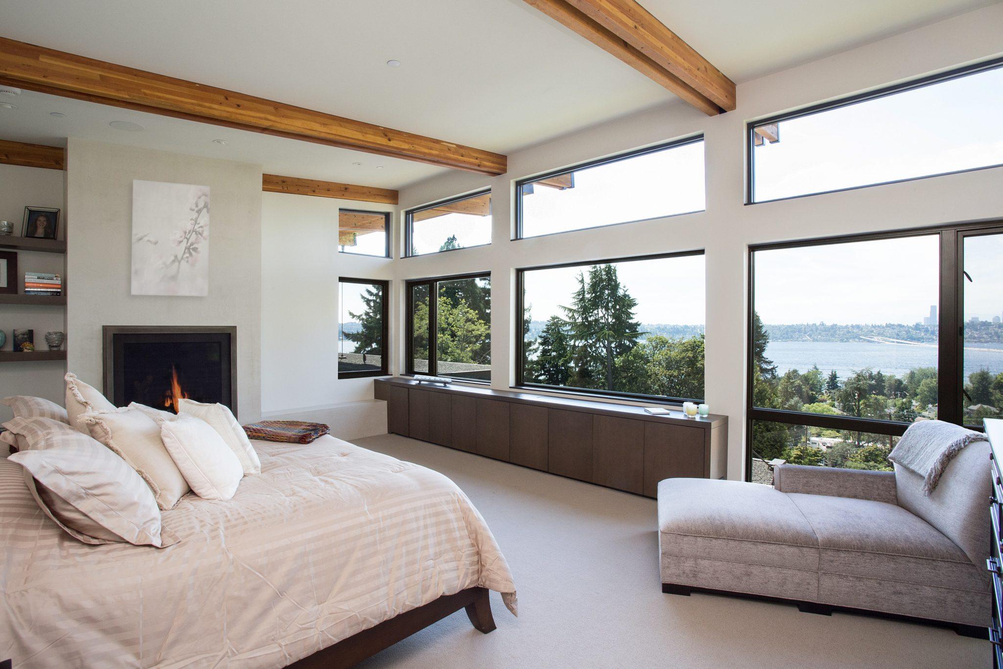 Mercer Island Custom Contemporary - Bedroom