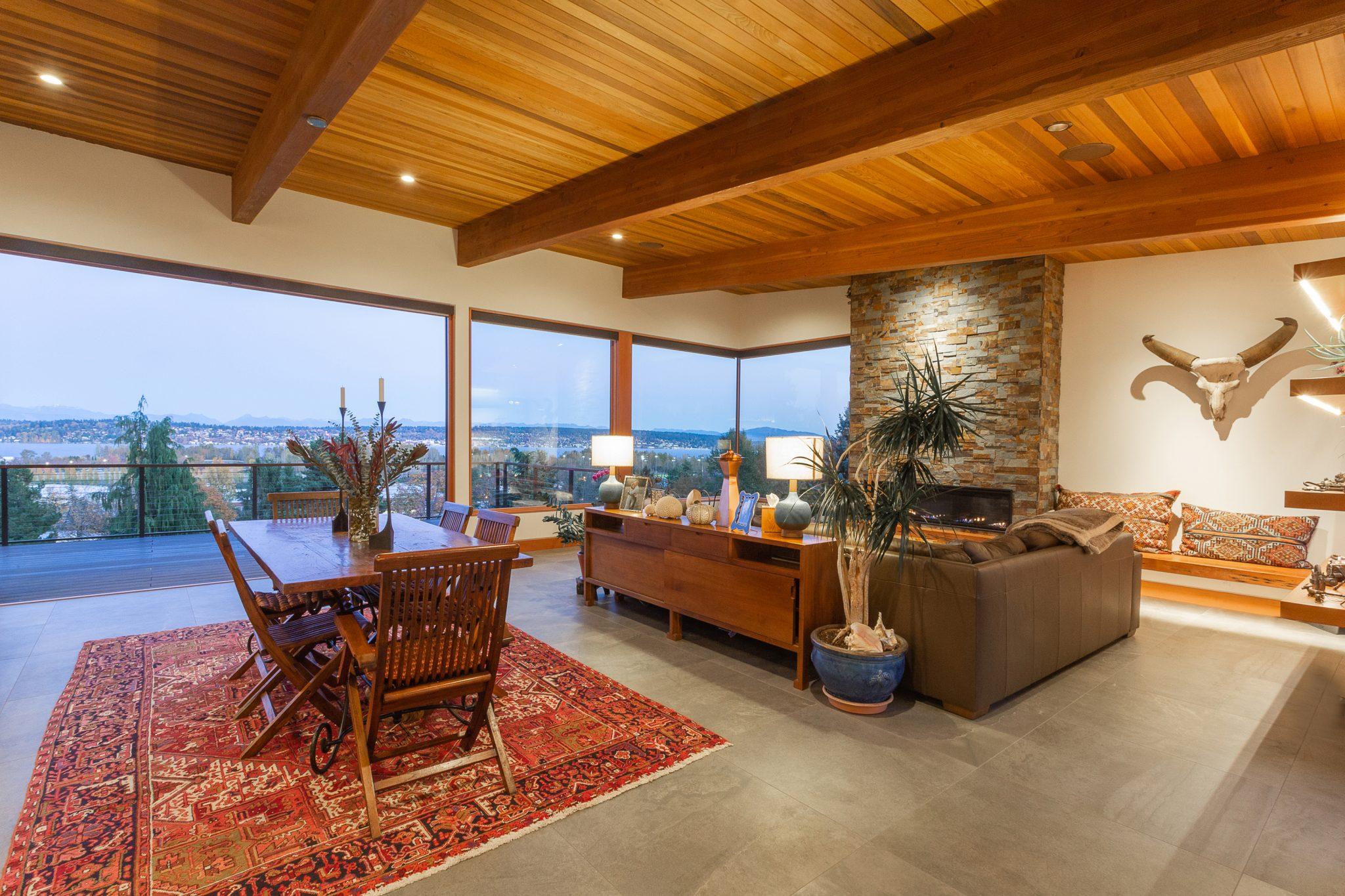 View Ridge Northwest Contemporary - Living Area